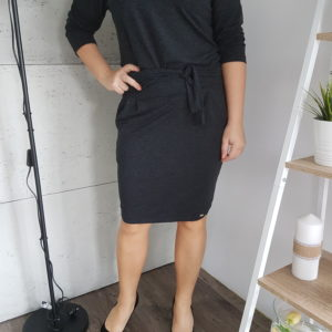 Sukienka dzianinowa Graphite Sporty Women