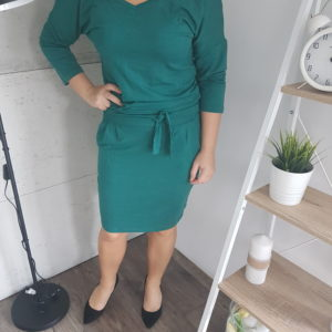 Sukienka dzianinowa Green Sporty Women