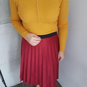 Spódnica plisowana Midi Red Suede