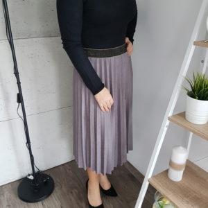 Spódnica plisowana Midi Gray Suede