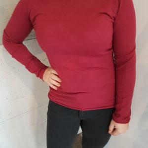 Sweterek basic Burgundy Classic