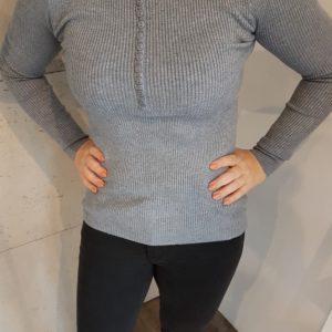 Sweterek dzianinowy z guzikami Gray Button