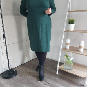 Sukienka dżersejowa Plus Size Green Comfort