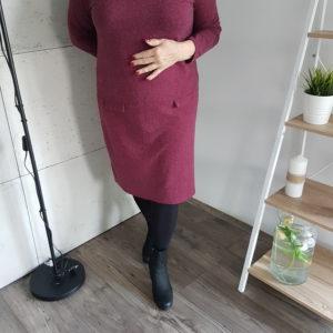 Sukienka dżersejowa Plus Size Burgundy Comfort