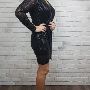 Sukienka cekinowa czarna Sequined Black