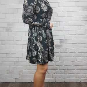 Sukienka ze stójką Dark Flower