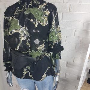 Bluzka koszulowa Green Stain