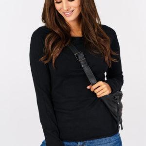 Sweterek basic Black Classic