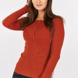 Sweterek dzianinowy z guzikami Red Button