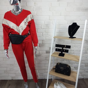 Komplet dresowy Shiny Red